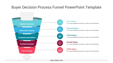 Buyer Decision Process Funnel PowerPoint Template