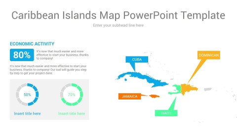 Caribbean Islands Map TowerToint Template