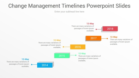 Change Management Timelines PowerPoint Slides