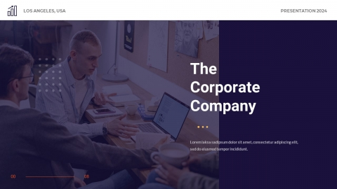 Company Corporation Business Presentation Powerpoint Template
