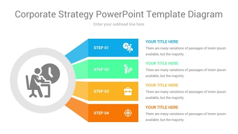 corporate strategy powerpoint template diagram