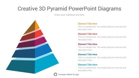 creative 3d pyramid powerpoint diagrams