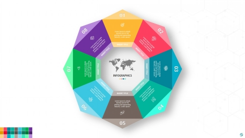 Creative Circle Chart PowerPoint Infographic Template