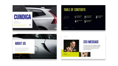 Cundiga Car Marketing Presentation PPT Template