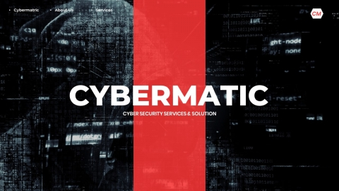 Cybermatic Cybersecurity Service and Solution PowerPoint Template
