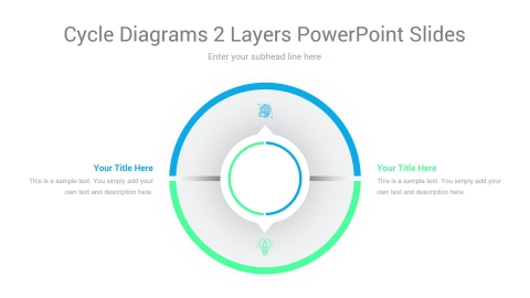 Cycle Diagrams 2 Layers PowerPoint Slides