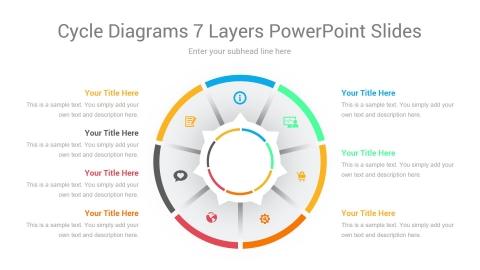 Cycle Diagrams 7 Layers PowerPoint Slides