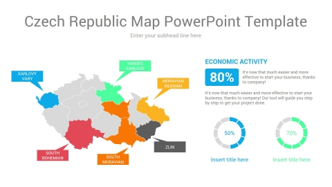 Czech Republic Map PowerPoint Template