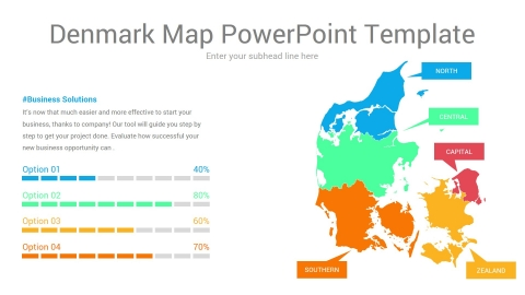 Denmark Map PowerPoint Template