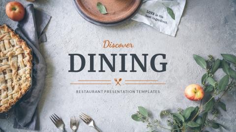 Dining Restaurant Presentation PowerPoint Template