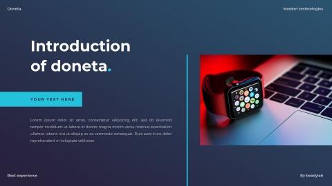 Doneta Smartwatch PowerPoint Template
