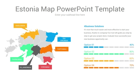 Estonia Map PowerPoint Template