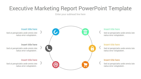 executive marketing report powerpoint template