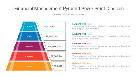 financial management pyramid powerpoint diagram