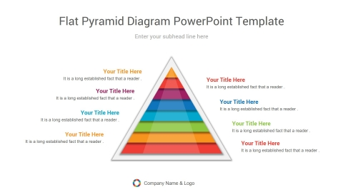 flat pyramid diagram powerpoint template