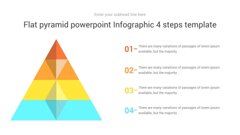 Flat Pyramid PowerPoint Infographic 4 Steps Template