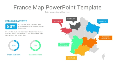 France Map PowerPoint Template
