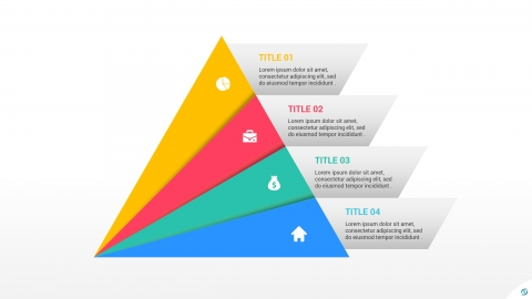 Free 4 Level Pyramid Template for PowerPoint
