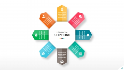 Free 8 Steps Arrows PowerPoint Infographic Template