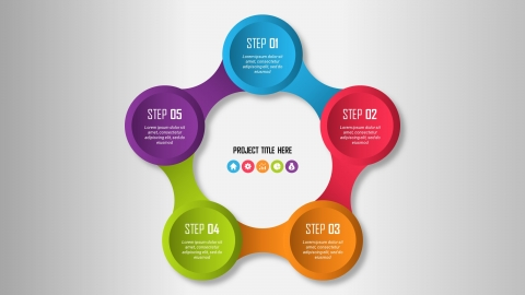 Free Colorful Circular PowerPoint Infographic Template