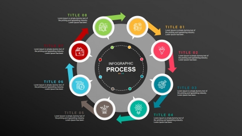 Free Process Infographic For PowerPoint And Google Slides Presentation Template