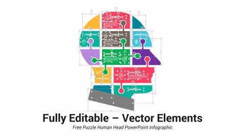 Free Puzzle Human Head PowerPoint Infographic