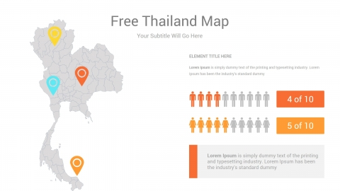 Free Thailand Map PowerPoint Template