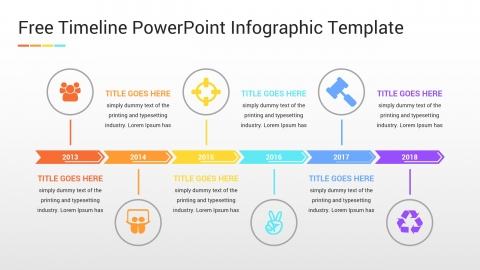 Free Timeline PowerPoint Infographic Template