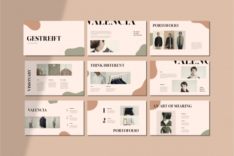 Getstreift Fashion Powerpoint Template