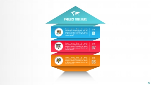 Growth Arrow PowerPoint Infographic Template