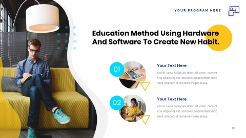 HiLearning Multipurpose Education Presentation Powerpoint Template