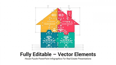 House Puzzle PowerPoint Infographics For Real Estate Presentations