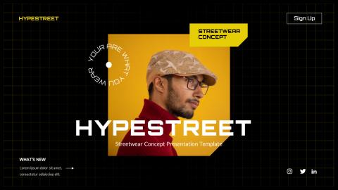 Hypestreet Urban Streetwear Powerpoint Template