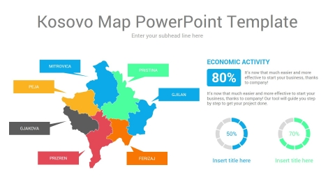 Kosovo Map PowerPoint Template