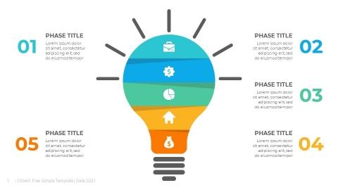 Light Bulb PowerPoint Infographics Template
