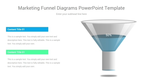 Marketing Funnel Diagrams PowerPoint Template