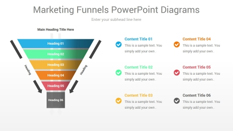 Marketing Funnels PowerPoint Diagrams