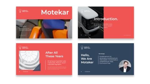 Motekar Modern Business Presentation PPT Template