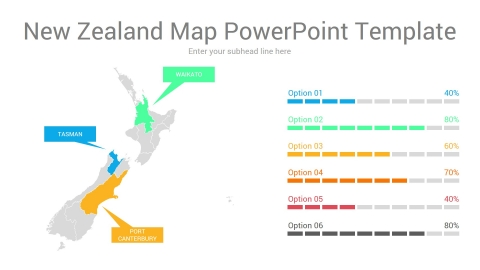 New Zealand Map PowerPoint Template