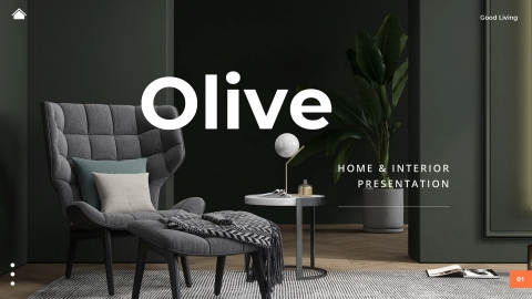 OLIVE Home & Interior PowerPoint Template