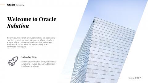 Oracle Minimal Presentation PowerPoint Template