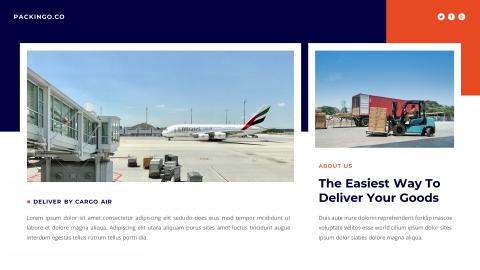 Packingo Logistics & Transport PowerPoint Presentation Template