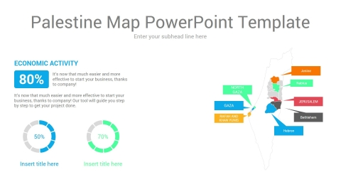 Palestine map powerpoint template