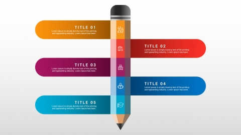 Pencil PPTX Infographic For Education Templates