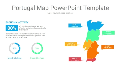 Portugal map powerpoint template