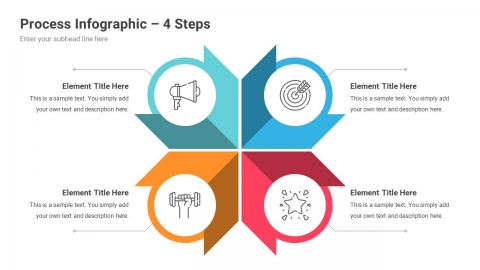 Process Infographics PowerPoint Template Diagrams