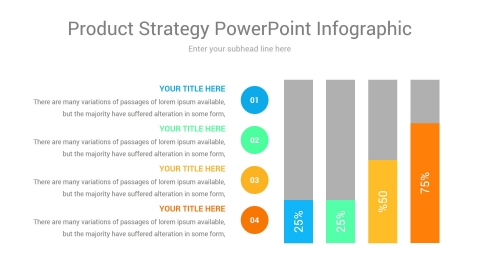 product strategy powerpoint infographic
