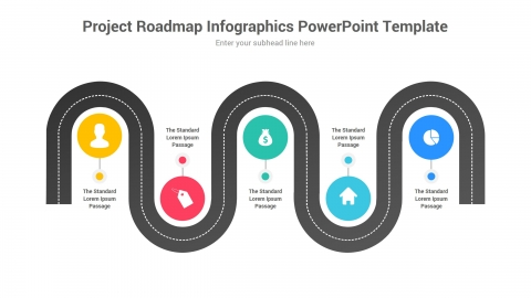 Project Roadmap Infographics PowerPoint Template