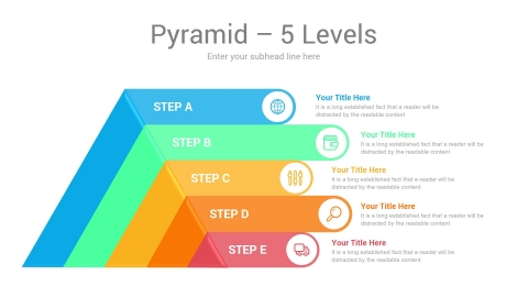 Pyramid Chart For PowerPoint Template