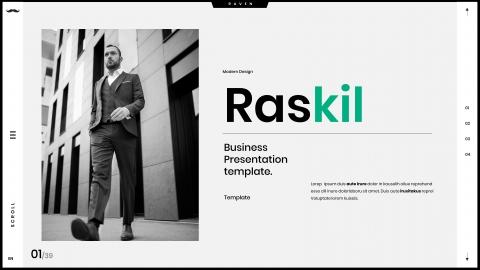Raskil Business PowerPoint Template